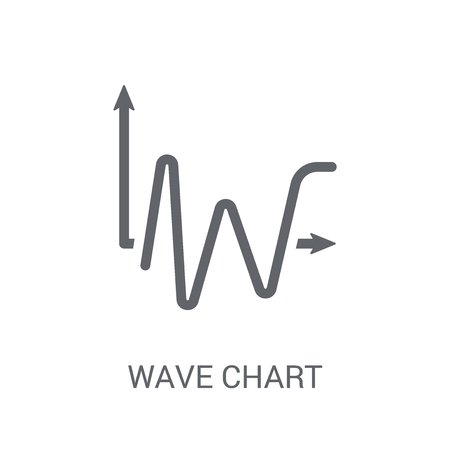 Wave chart icon. Trendy Wave chart logo concept on white background from Business and analytics collection. Suitable for use on web apps, mobile apps and print media.