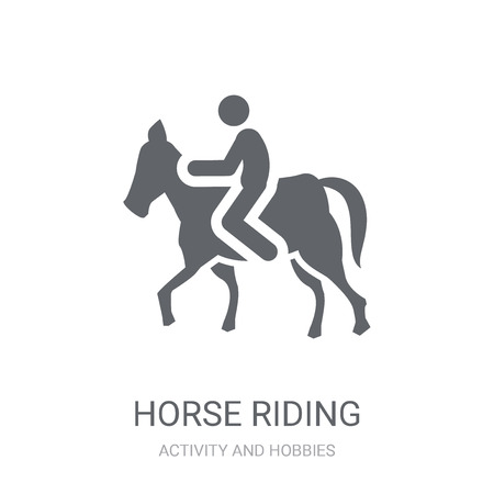 Horse riding icon. Trendy Horse riding logo concept on white background from Activity and Hobbies collection. Suitable for use on web apps, mobile apps and print media. Illustration