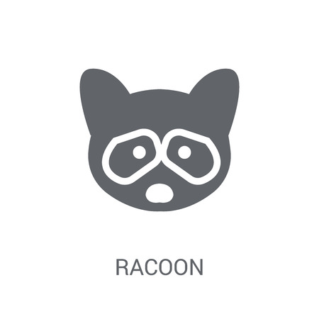 Racoon icon. Trendy Racoon logo concept on white background from animals collection. Suitable for use on web apps, mobile apps and print media. Illustration