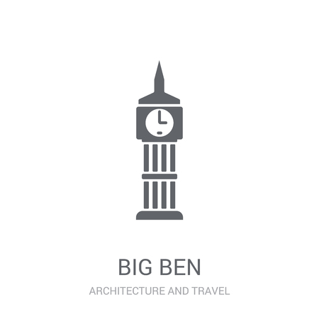 Big ben icon. Trendy Big ben logo concept on white background from Architecture and Travel collection. Suitable for use on web apps, mobile apps and print media. Çizim