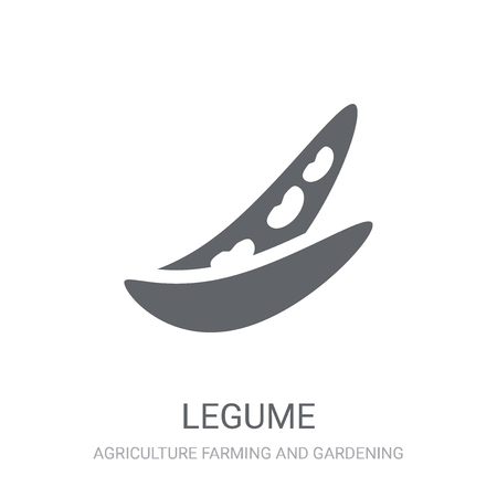 Legume icon. Trendy Legume logo concept on white background from Agriculture Farming and Gardening collection. Suitable for use on web apps, mobile apps and print media. Vectores