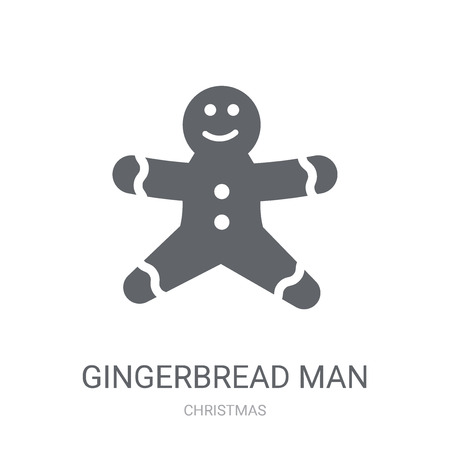 Gingerbread man icon. Trendy Gingerbread man logo concept on white background from Christmas collection. Suitable for use on web apps, mobile apps and print media.