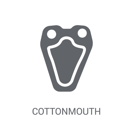 cottonmouth icon. Trendy cottonmouth logo concept on white background from animals collection. Suitable for use on web apps, mobile apps and print media.