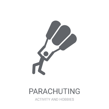 Parachuting icon. Trendy Parachuting logo concept on white background from Activity and Hobbies collection. Suitable for use on web apps, mobile apps and print media.