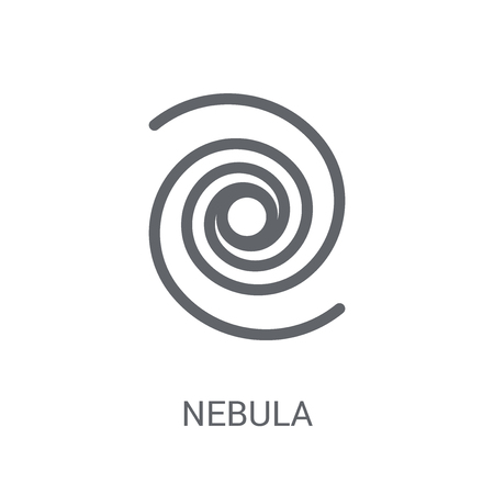 Nebula icon. Trendy Nebula logo concept on white background from Astronomy collection. Suitable for use on web apps, mobile apps and print media.
