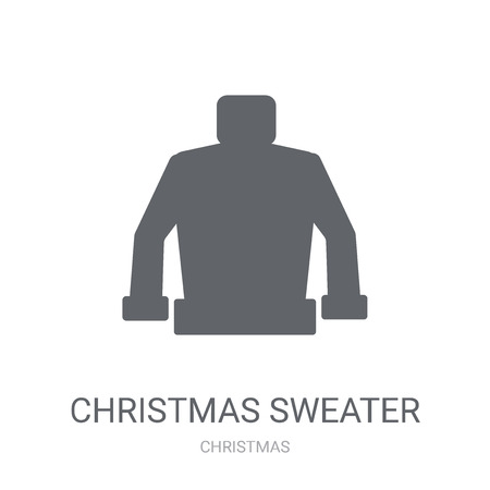 christmas sweater icon. Trendy christmas sweater logo concept on white background from Christmas collection. Suitable for use on web apps, mobile apps and print media.