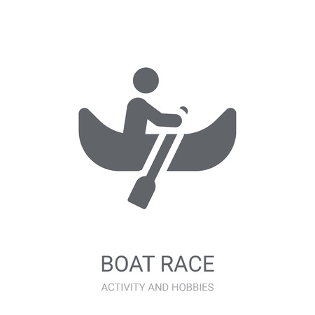 Boat race icon. Trendy Boat race logo concept on white background from Activity and Hobbies collection. Suitable for use on web apps, mobile apps and print media.