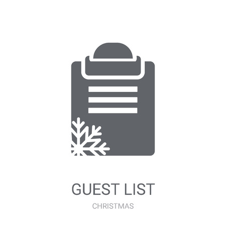 Guest list icon. Trendy Guest list logo concept on white background from Christmas collection. Suitable for use on web apps, mobile apps and print media. Stock Illustratie