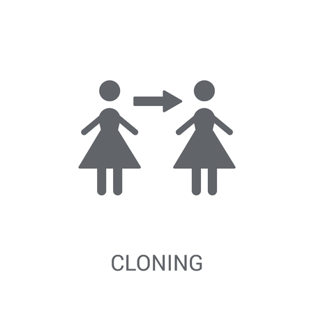 Cloning icon. Trendy Cloning logo concept on white background from Artificial Intelligence collection. Suitable for use on web apps, mobile apps and print media.