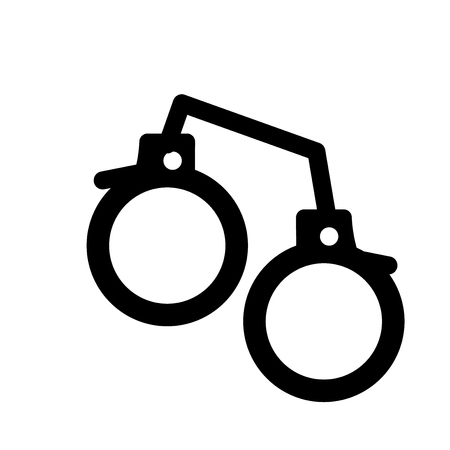 Pair of Handcuffs icon. Trendy Pair of Handcuffs logo concept on white background from army and war collection. Suitable for use on web apps, mobile apps and print media.