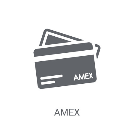 Amex icon. Trendy Amex logo concept on white background from Cryptocurrency economy and finance collection. Suitable for use on web apps, mobile apps and print media.