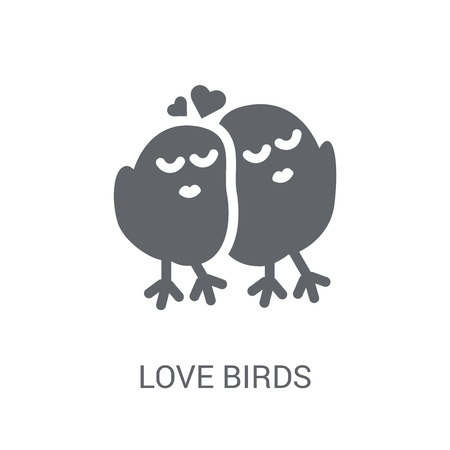 Love Birds icon. Trendy Love Birds logo concept on white background from Birthday party and wedding collection. Suitable for use on web apps, mobile apps and print media. Illustration