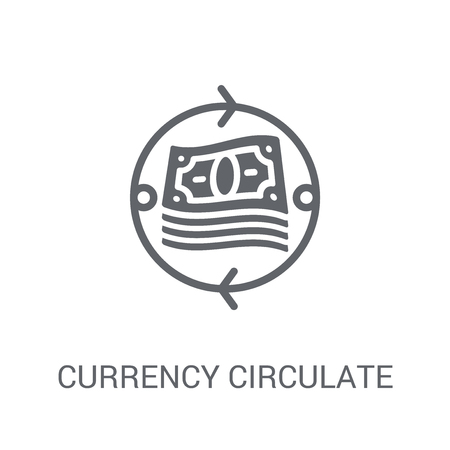 currency circulate icon. Trendy currency circulate logo concept on white background from Cryptocurrency economy and finance collection. Suitable for use on web apps, mobile apps and print media. Ilustrace