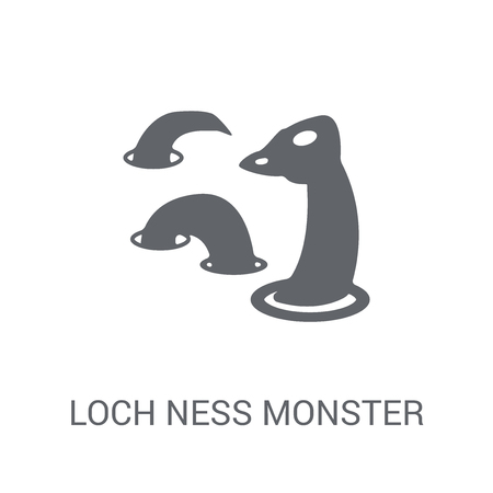 Loch ness monster icon. Trendy Loch ness monster logo concept on white background from animals collection. Suitable for use on web apps, mobile apps and print media. Illustration