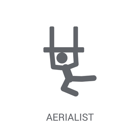 Aerialist icon. Trendy Aerialist logo concept on white background from Circus collection. Suitable for use on web apps, mobile apps and print media.