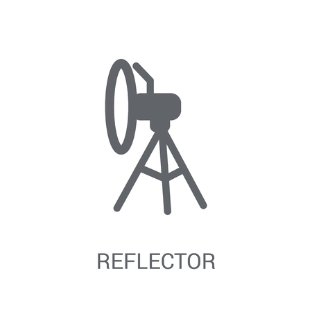 Reflector icon. Trendy Reflector logo concept on white background from Astronomy collection. Suitable for use on web apps, mobile apps and print media.