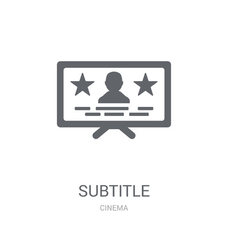 subtitle icon. Trendy subtitle logo concept on white background from Cinema collection. Suitable for use on web apps, mobile apps and print media. Illusztráció