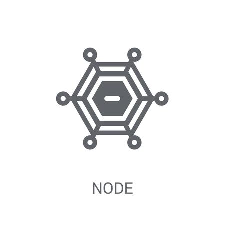 Icône de nœud. Concept de logo de nœud branché sur fond blanc de la collection économie et finance de crypto-monnaie. Convient pour une utilisation sur des applications Web, des applications mobiles et des supports imprimés. Logo