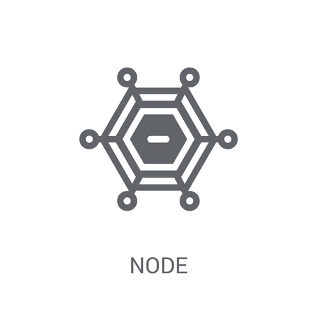 Node icon. Trendy Node logo concept on white background from Cryptocurrency economy and finance collection. Suitable for use on web apps, mobile apps and print media. Logo