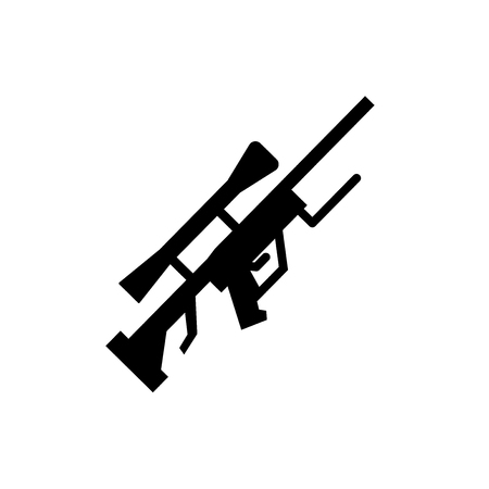 Sniper Rifle icon. Trendy Sniper Rifle logo concept on white background from army and war collection. Suitable for use on web apps, mobile apps and print media.
