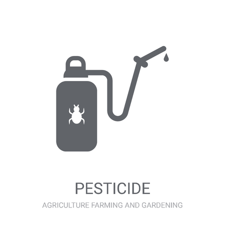 Pesticide icon. Trendy Pesticide logo concept on white background from Agriculture Farming and Gardening collection. Suitable for use on web apps, mobile apps and print media. Illustration