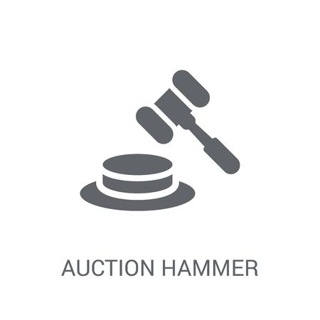 Auction hammer icon. Trendy Auction hammer logo concept on white background from Cryptocurrency economy and finance collection. Suitable for use on web apps, mobile apps and print media. 일러스트