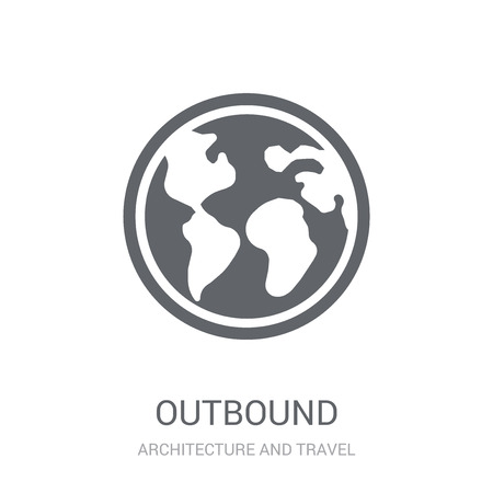 Outbound icon. Trendy Outbound logo concept on white background from Architecture and Travel collection. Suitable for use on web apps, mobile apps and print media.
