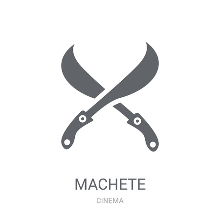 machete icon. Trendy machete logo concept on white background from Cinema collection. Suitable for use on web apps, mobile apps and print media.