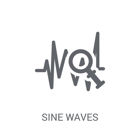 Sine Waves Analysis icon. Trendy Sine Waves Analysis logo concept on white background from Business and analytics collection. Suitable for use on web apps, mobile apps and print media. Illustration