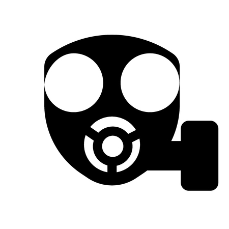 Gas mask icon. Trendy Gas mask logo concept on white background from army and war collection. Suitable for use on web apps, mobile apps and print media.