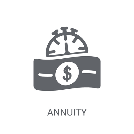 Annuity icon. Trendy Annuity logo concept on white background from business collection. Suitable for use on web apps, mobile apps and print media.