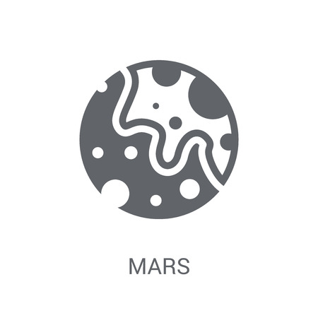 Mars icon. Trendy Mars logo concept on white background from Astronomy collection. Suitable for use on web apps, mobile apps and print media.