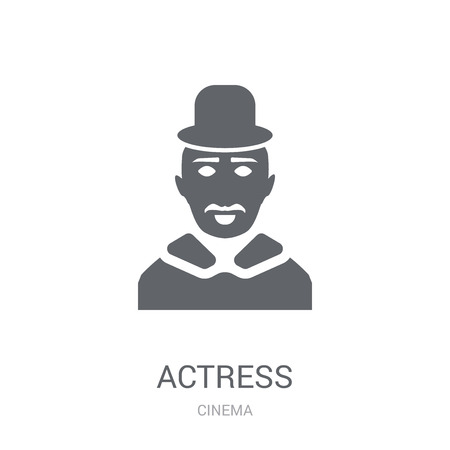 actress icon. Trendy actress logo concept on white background from Cinema collection. Suitable for use on web apps, mobile apps and print media.