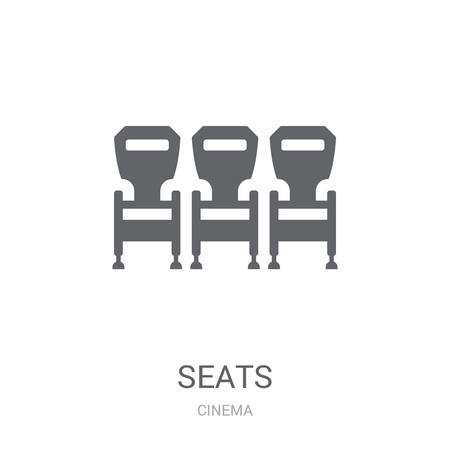 Seats icon. Trendy Seats logo concept on white background from Cinema collection. Suitable for use on web apps, mobile apps and print media.