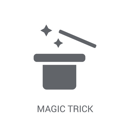 Magic trick icon. Trendy Magic trick logo concept on white background from Circus collection. Suitable for use on web apps, mobile apps and print media.