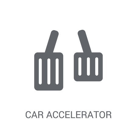 car accelerator icon. Trendy car accelerator logo concept on white background from car parts collection. Suitable for use on web apps, mobile apps and print media. 矢量图像
