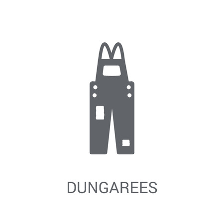 Dungarees icon. Trendy Dungarees logo concept on white background from Clothes collection. Suitable for use on web apps, mobile apps and print media.