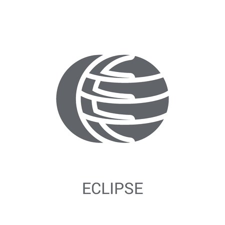 Eclipse icon. Trendy Eclipse logo concept on white background from Astronomy collection. Suitable for use on web apps, mobile apps and print media.