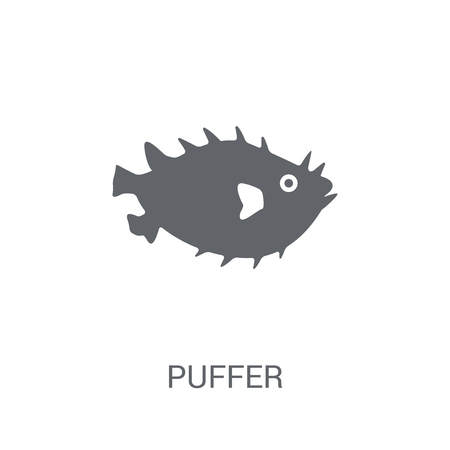 Puffer icon. Trendy Puffer logo concept on white background from animals collection. Suitable for use on web apps, mobile apps and print media. Ilustração