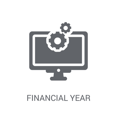 Financial year icon. Trendy Financial year logo concept on white background from business collection. Suitable for use on web apps, mobile apps and print media.