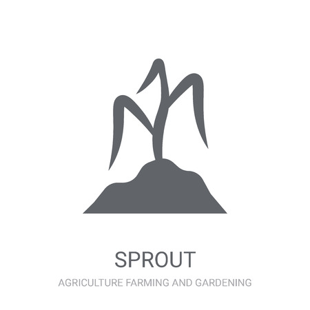 Sprout icon. Trendy Sprout logo concept on white background from Agriculture Farming and Gardening collection. Suitable for use on web apps, mobile apps and print media.