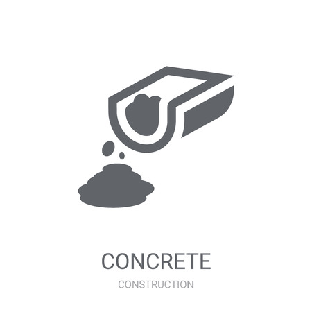 Concrete icon. Trendy Concrete logo concept on white background from Construction collection. Suitable for use on web apps, mobile apps and print media.