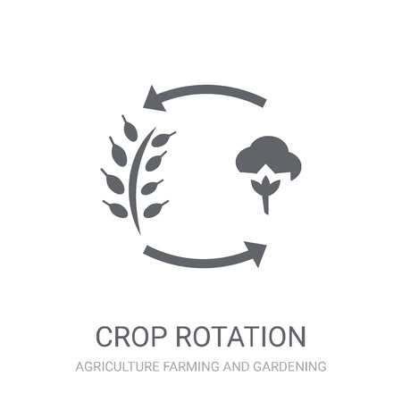crop rotation icon. Trendy crop rotation logo concept on white background from Agriculture Farming and Gardening collection. Suitable for use on web apps, mobile apps and print media.