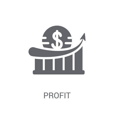 Icône de bénéfices. Concept de logo de profit à la mode sur fond blanc de la collection d'économie et de finance de crypto-monnaie. Convient pour une utilisation sur des applications Web, des applications mobiles et des supports imprimés.