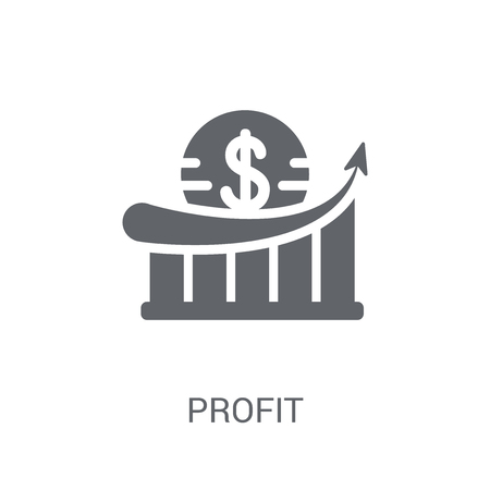 Profit icon. Trendy Profit logo concept on white background from Cryptocurrency economy and finance collection. Suitable for use on web apps, mobile apps and print media.