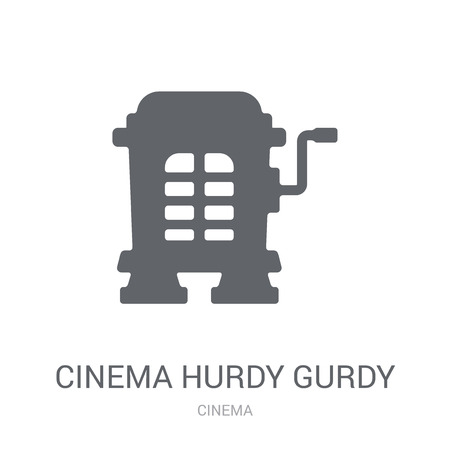 cinema hurdy gurdy icon. Trendy cinema hurdy gurdy logo concept on white background from Cinema collection. Suitable for use on web apps, mobile apps and print media. Illustration