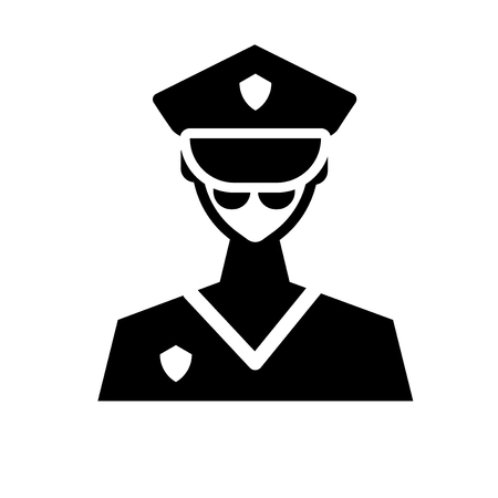 officer icon. Trendy officer logo concept on white background from army and war collection. Suitable for use on web apps, mobile apps and print media.