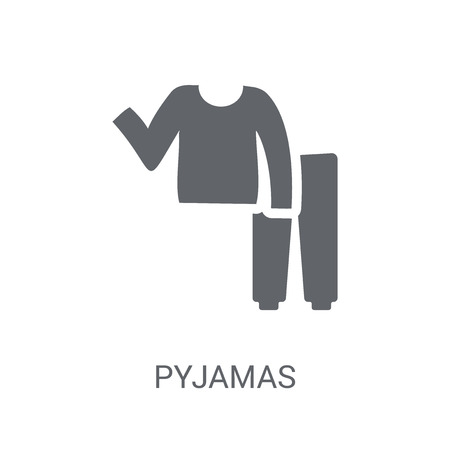 pyjamas icon. Trendy pyjamas logo concept on white background from Clothes collection. Suitable for use on web apps, mobile apps and print media. Иллюстрация
