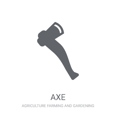 Axe icon. Trendy Axe logo concept on white background from Agriculture Farming and Gardening collection. Suitable for use on web apps, mobile apps and print media. Иллюстрация