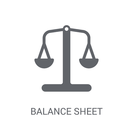 Balance sheet icon. Trendy Balance sheet logo concept on white background from business collection. Suitable for use on web apps, mobile apps and print media.